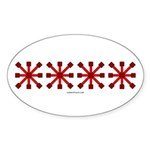 Red Jacks Oval Sticker (50 pk)