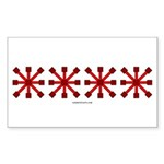 Red Jacks Rectangle Sticker 10 pk)