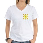 Yellow Jack Women's V-Neck T-Shirt