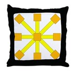 Yellow Jack Throw Pillow