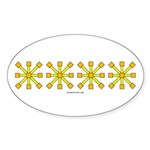 Yellow Jacks Oval Sticker (10 pk)