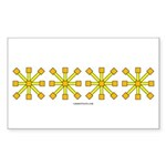 Yellow Jacks Rectangle Sticker 50 pk)