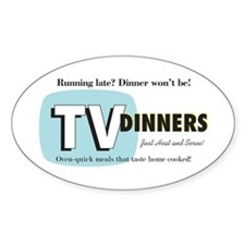 TV Dinner Oval Sticker (10 pk)