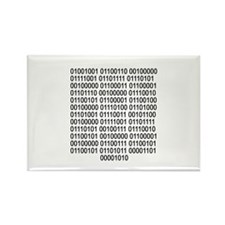 If you can read - Binary code Rectangle Magnet