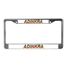 Adinkra License Plate Frame