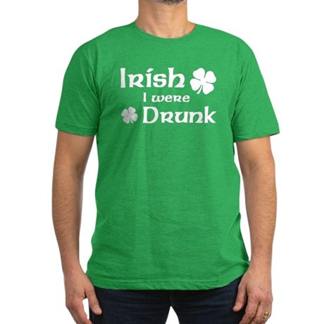 Irish I were Drunk Men's Fitted T-Shirt (dark)