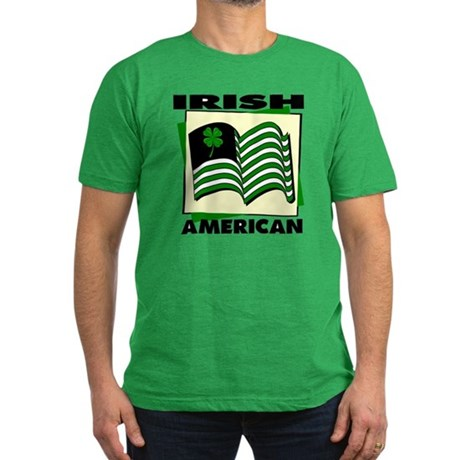 Irish American Men's Fitted T-Shirt (dark)