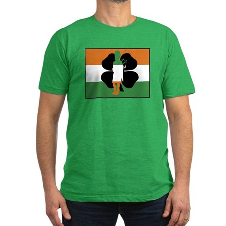 Irish Flag Men's Fitted T-Shirt (dark)