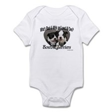 Boston Terrier Love Infant Bodysuit