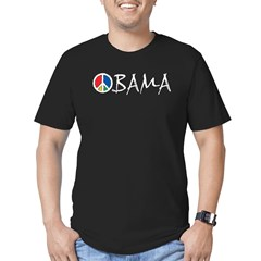 Obama Peace Men's Fitted T-Shirt (dark)