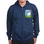 Opal Cornish Rooster Zip Hoodie (dark)