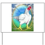 Opal Cornish Rooster Yard Sign