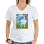 Opal Cornish Rooster Women's V-Neck T-Shirt
