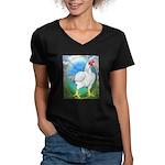 Opal Cornish Rooster Women's V-Neck Dark T-Shirt