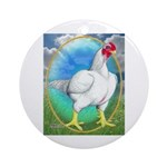 Opal Cornish Rooster Ornament (Round)