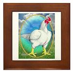 Opal Cornish Rooster Framed Tile