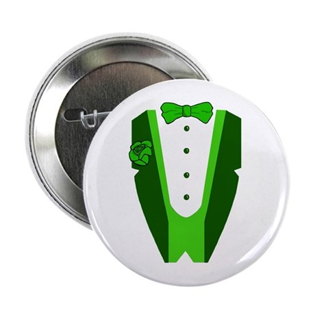 "Irish Tuxedo 2.25"" Button"