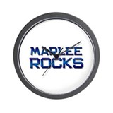 marlee rocks Wall Clock