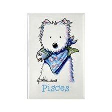 Pisces Westie Rectangle Magnet (10 pack)