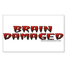 Brain Damaged Rectangle Decal