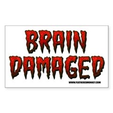 Brain Damaged Rectangle Decal