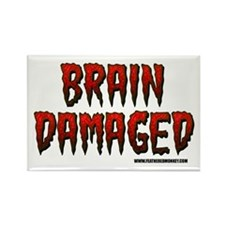 Brain Damaged Rectangle Magnet