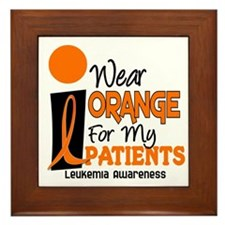 I Wear Orange 9 (Patients) LEUK Framed Tile