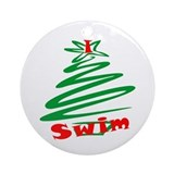 I Swim Christmas Ornaments Ornament (Round)