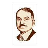 Ludwig von Mises Rectangle Decal