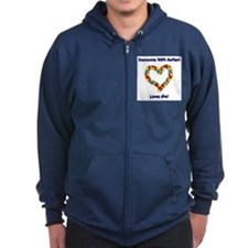 Someone With Autism Loves Me! Zip Hoodie