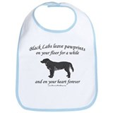 Black Lab Pawprints Bib