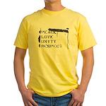 'P.L.U.R.' Yellow T-Shirt