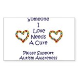 Someone I Love Needs A Cure-A Rectangle Sticker 5