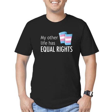 My Other Life Trans Men's Fitted T-Shirt (dark)
