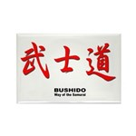 Samurai Bushido Kanji Rectangle Magnet (10 pack)