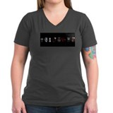 Twilight Inspired Women's V-Neck Black T-Shirt