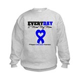 ColonCancerHeart Mom Sweatshirt