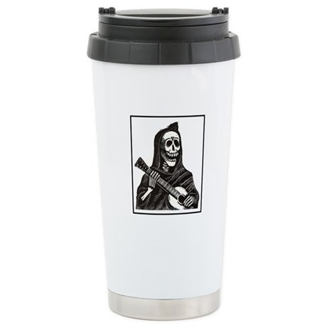 Calavera with Guitar Ceramic Travel Mug