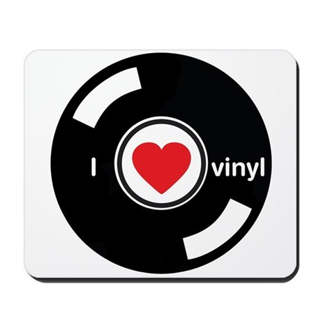 I Heart Vinyl Mousepad