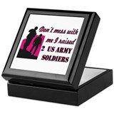 Cute Army mom Keepsake Box