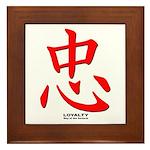 Samurai Loyalty Kanji Framed Tile