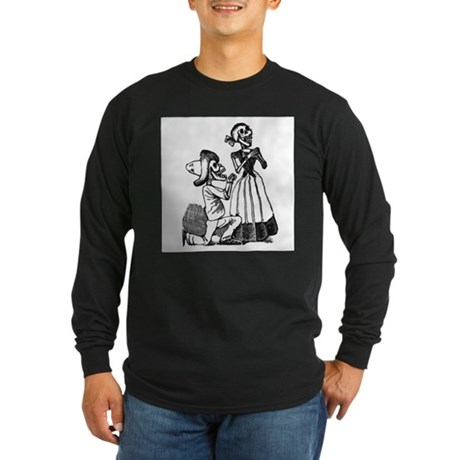Calavera of Cupid Long Sleeve Dark T-Shirt