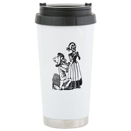 Calavera of Cupid Ceramic Travel Mug