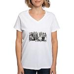 Calavera's Wild Party Women's V-Neck T-Shirt
