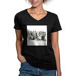 Calavera's Wild Party Women's V-Neck Dark T-Shirt