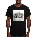 Calavera's Wild Party Men's Fitted T-Shirt (dark)