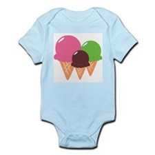 Ice Cream Cones Infant Bodysuit