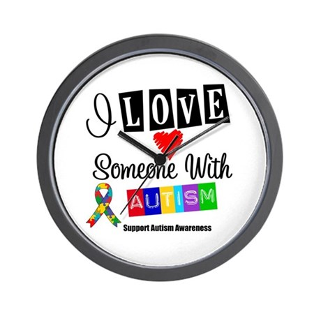 I Love Someone Autism Wall Clock