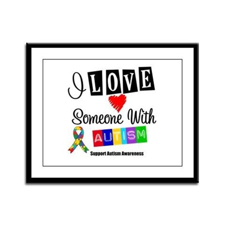 I Love Someone Autism Framed Panel Print