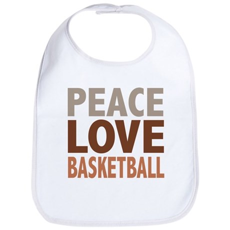 Peace Love Basketball Bib